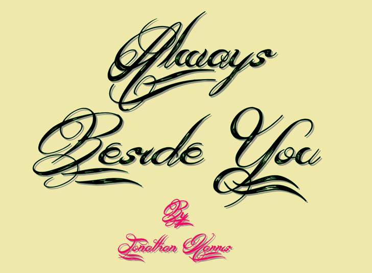 Always Beside You Font handwriting design