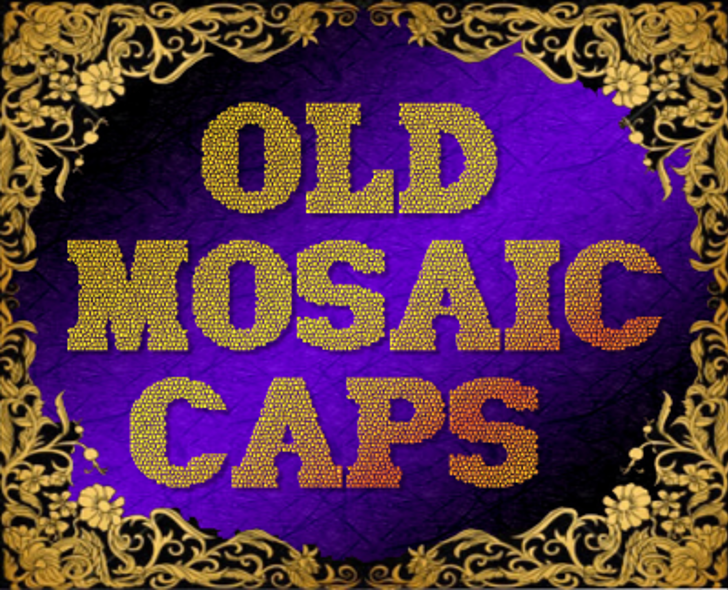 Old Mosaic CAPS Font poster
