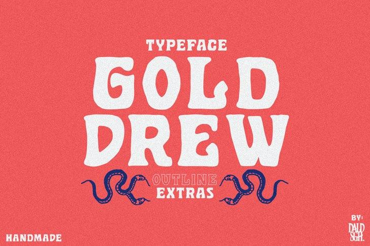 Golddrew DEMO Font poster