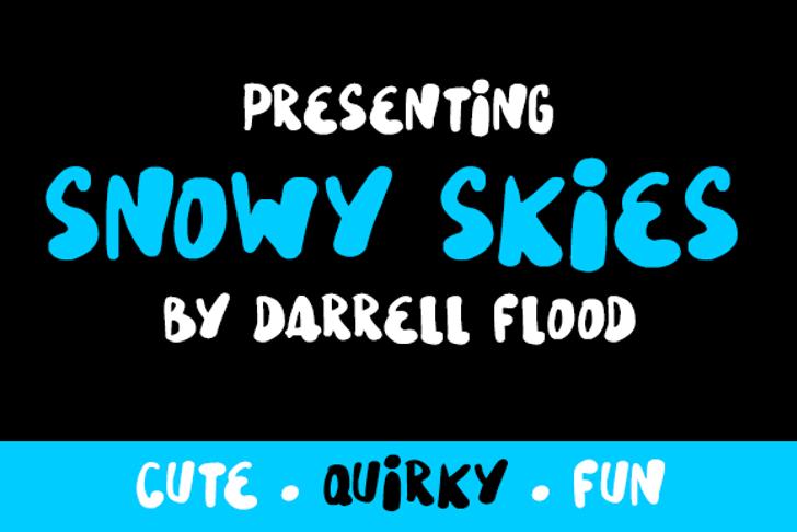 Snowy Skies Font screenshot text