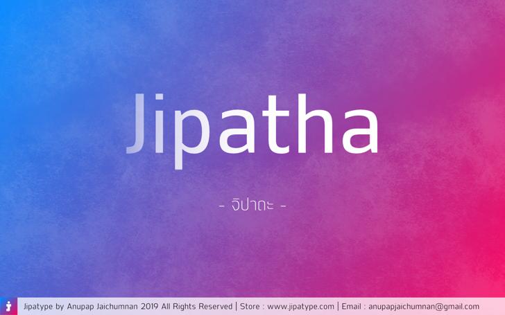Jipatha Font screenshot