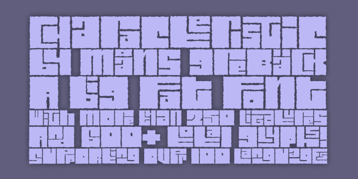 Characteristic Font design electronics