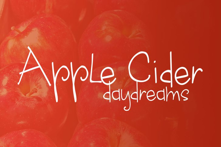 apple cider daydreams Font design text