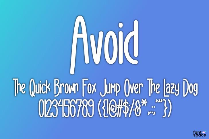 Avoid Font poster