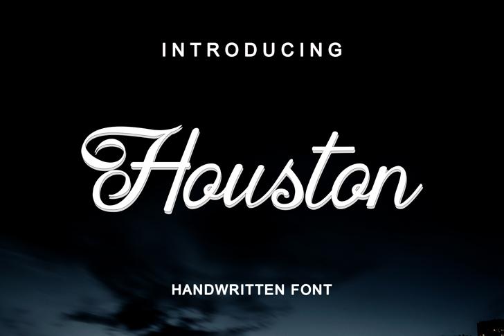 Houston Regular Font text design