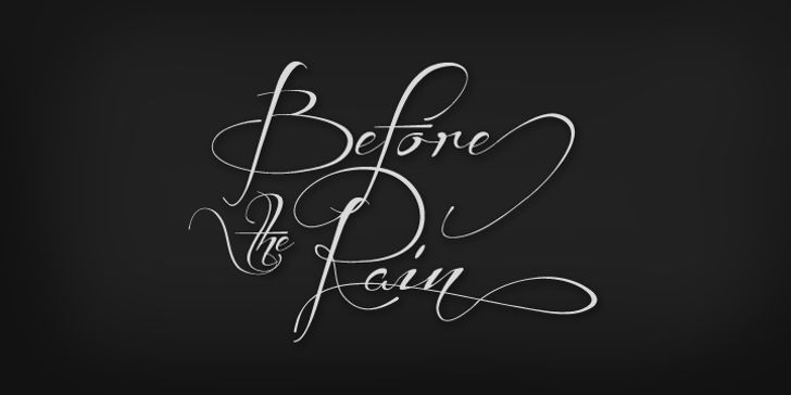 Before the Rain Font drawing handwriting