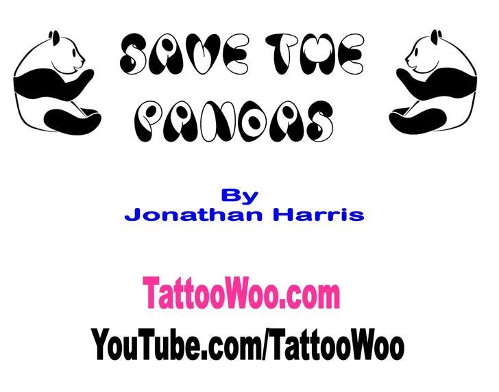Panda Spots Font cartoon design