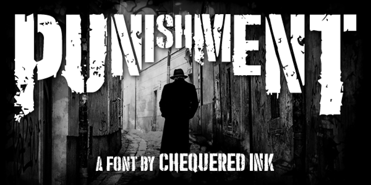 Punishment Font sign outdoor
