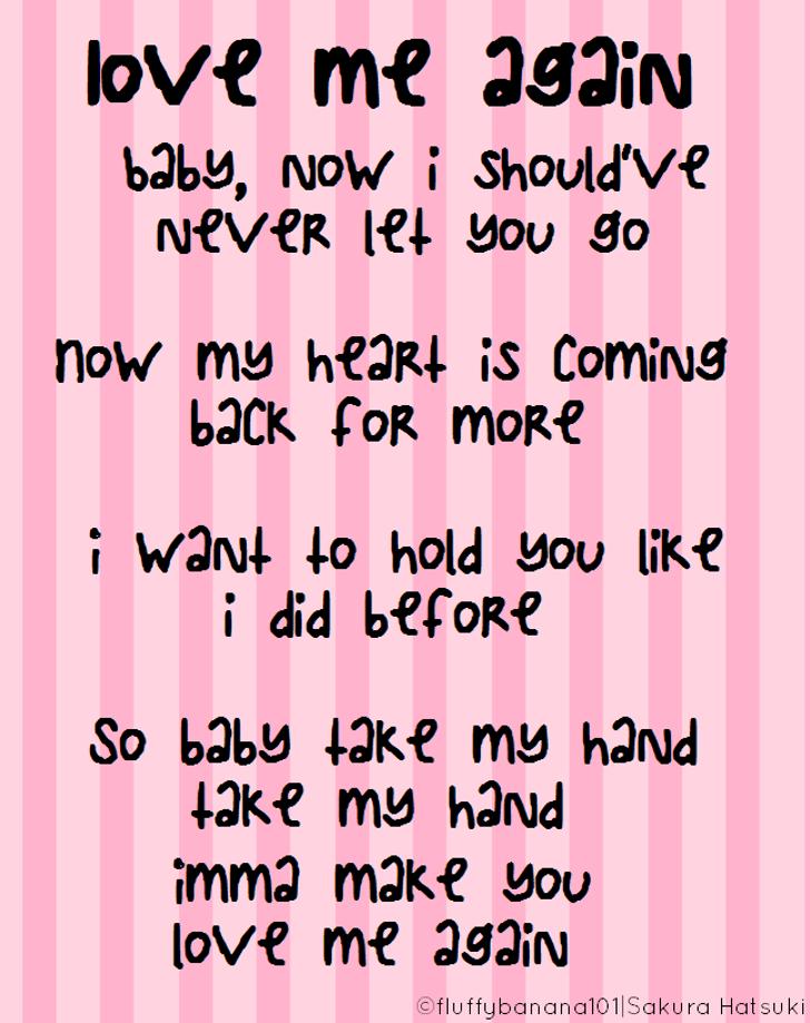 LoveMeAgain Font screenshot text