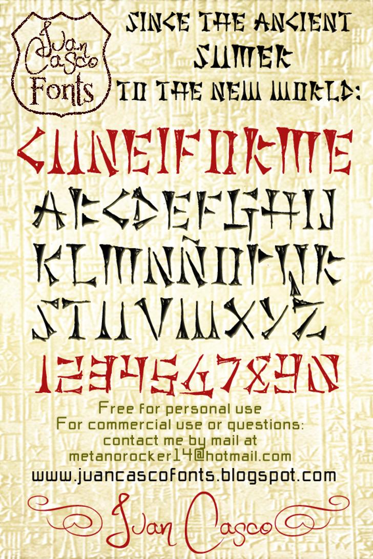 Cuneiforme Font text poster