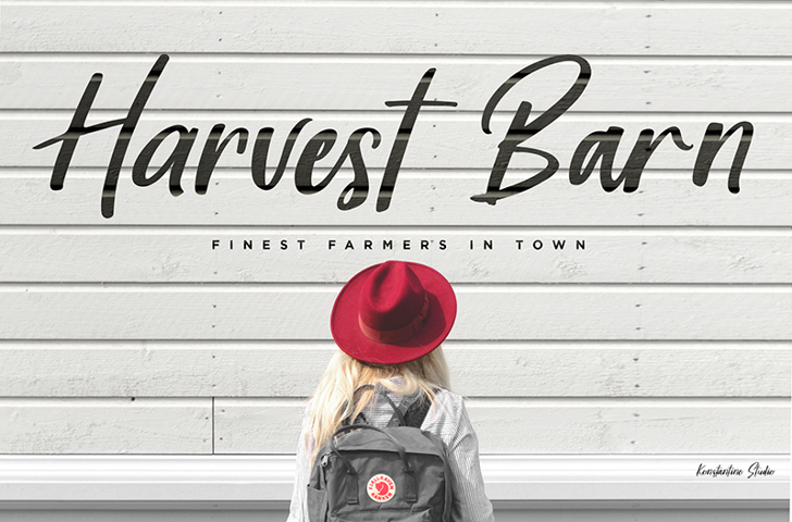 Harvest Barn DEMO Font road hat