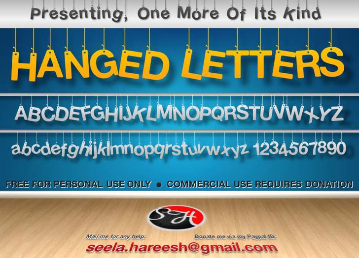Hanging Letters Font screenshot text