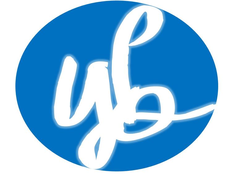 YBRomanticNights Font design logo