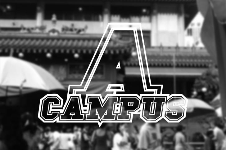 Campus A Font screenshot