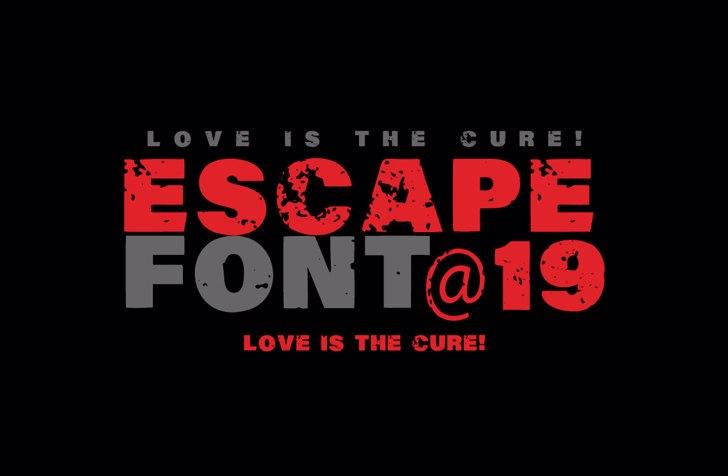 Vtks Escape Font design poster