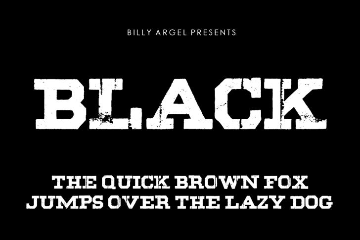 BLACK Font design screenshot