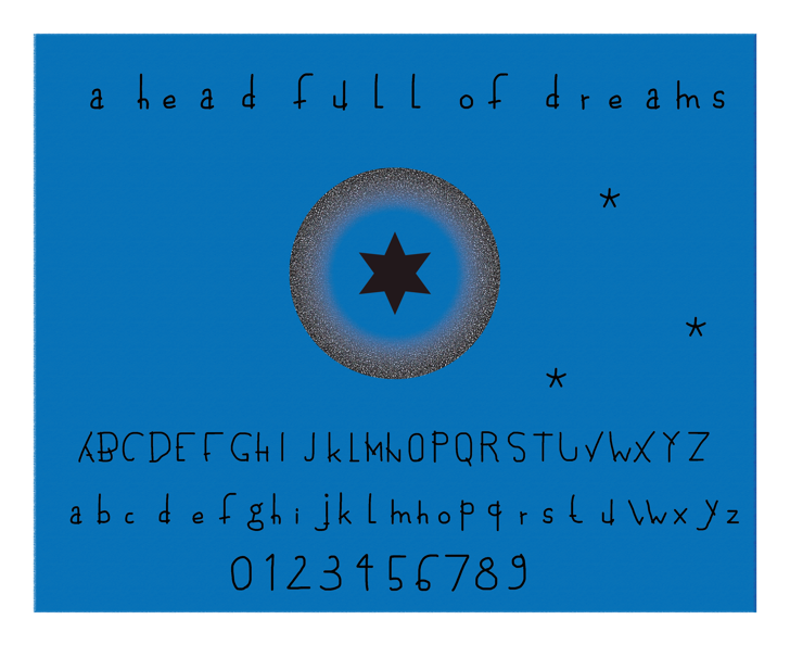 a head full of dreams Font screenshot text