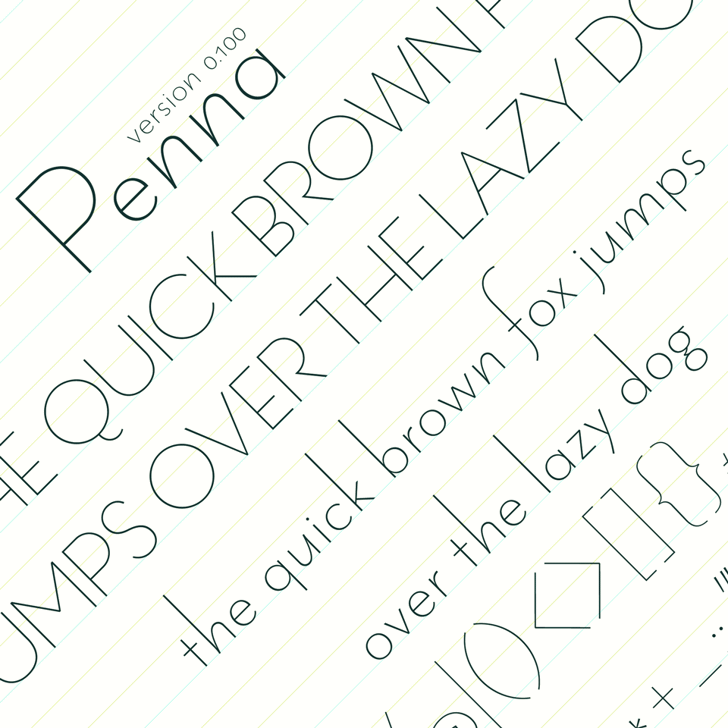 Penna Font handwriting text