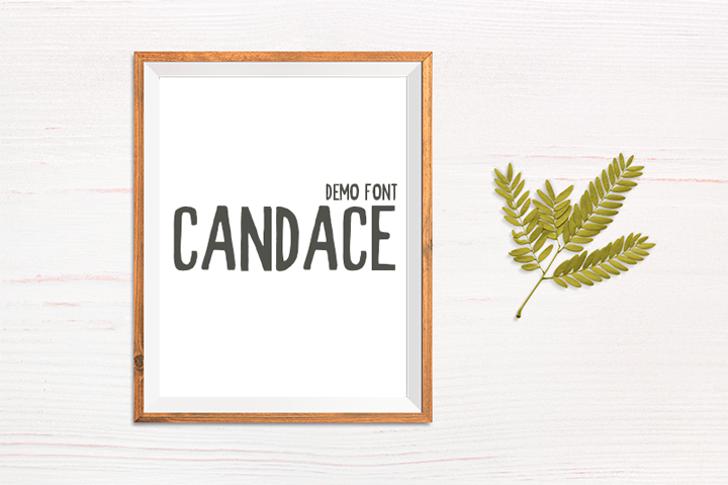 Candace Demo Font design graphic