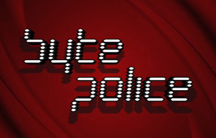 Byte Police Font screenshot design