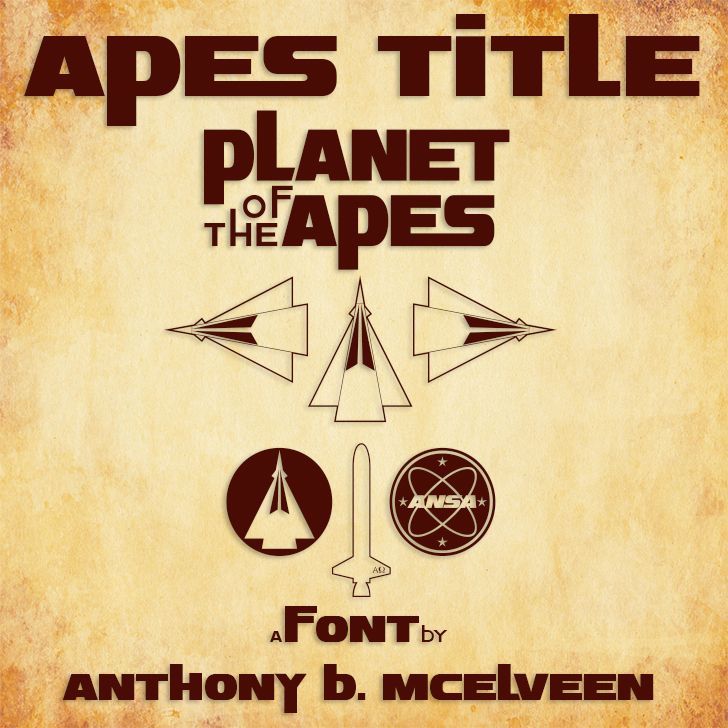 Apes Title Font text book