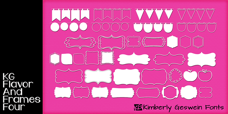 KG Flavor And Frames Four Font screenshot graphic
