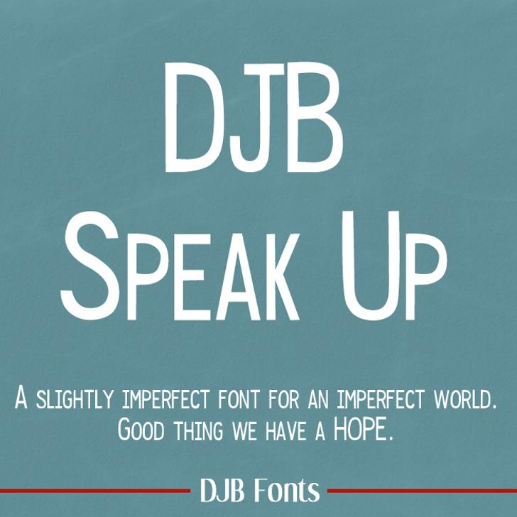 DJB Speak Up Font text screenshot