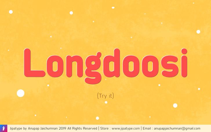 Longdoosi Personal Use Font screenshot