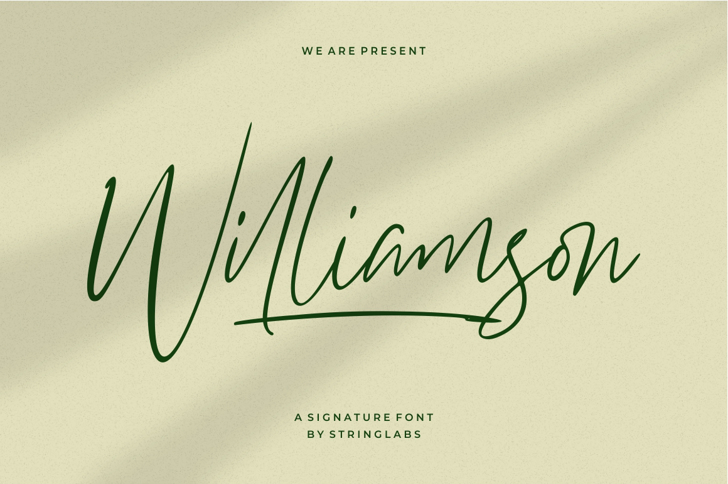 Williamson Font poster