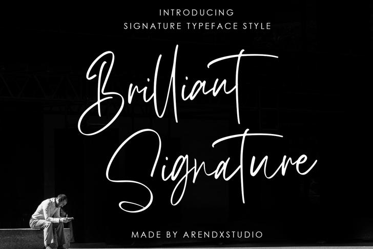 Brilliant Signature Font poster