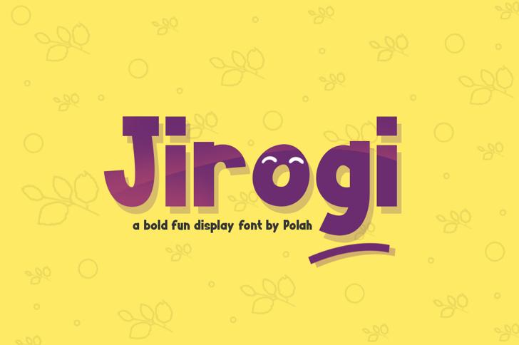 Jirogi Font text design
