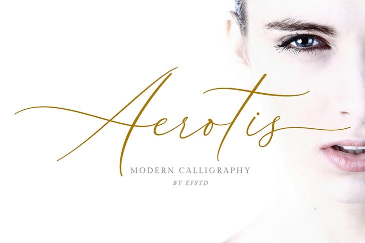 Aerotis Font handwriting