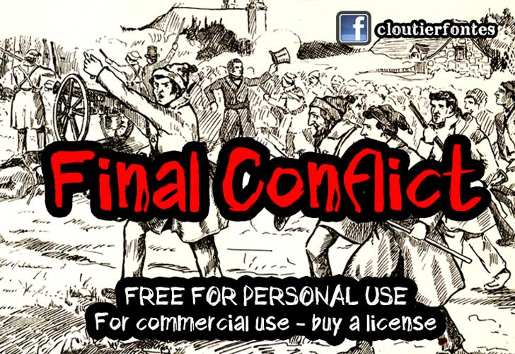 CF Final Conflict Font text book