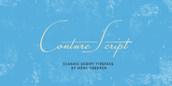 Conture Script PERSONAL USE Font screenshot design