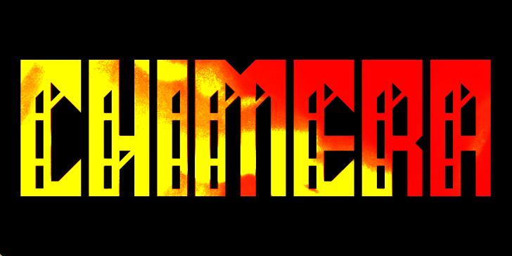 Chimera Font poster design
