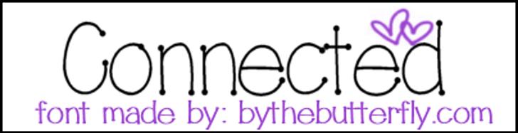 Connected Font design font