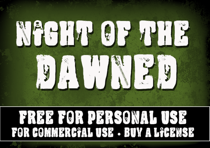 CF Night Of The Damned Font poster text