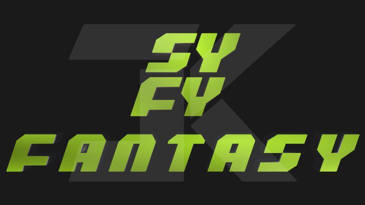 SYFY Fantasy Font text