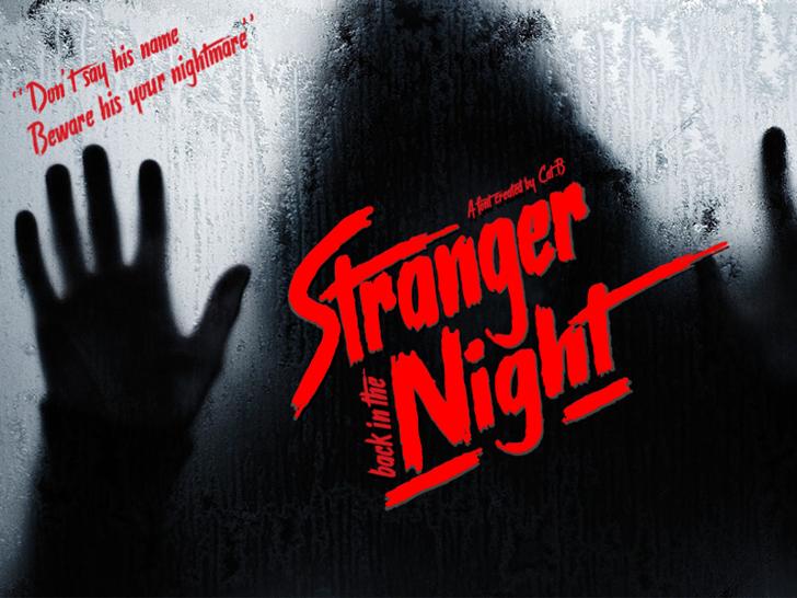 Stranger back in the Night Font poster book