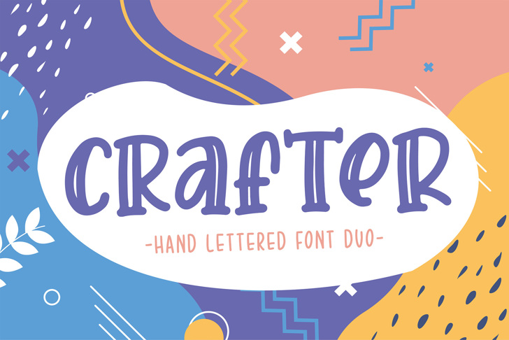 Crafter Font poster