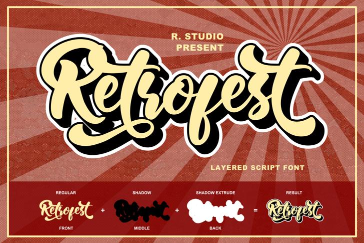 Retrofest Font poster