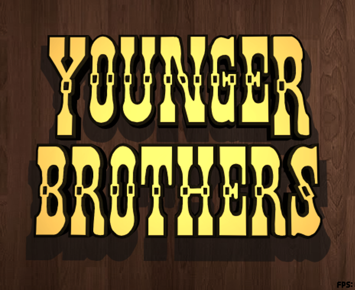 Younger Brothers Font wooden typography