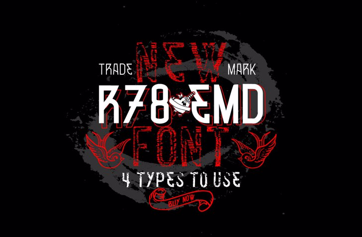 VTKS R78 EMD v2 Font poster design