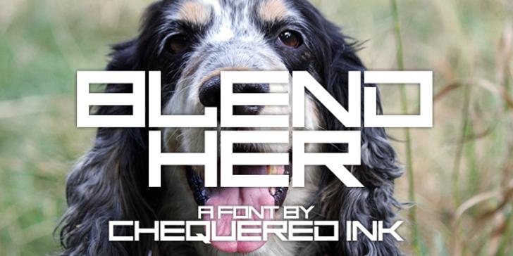 Blend Her Font dog grass