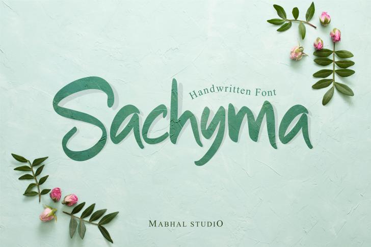 Sachyma (Demo) Font poster