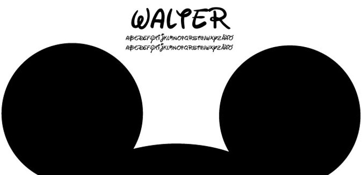 Walter Font cartoon poster