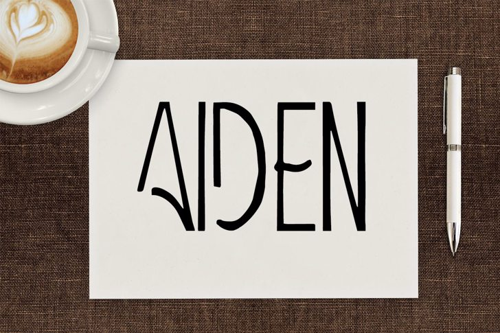Aiden Font design handwriting