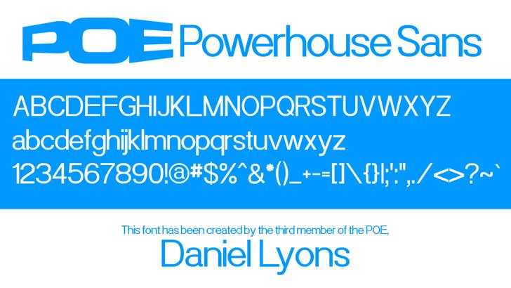 Powerhouse Sans Font screenshot abstract
