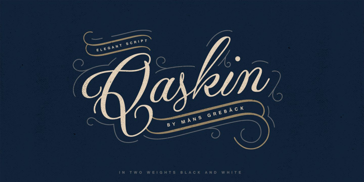 Qaskin Black Personal Use Font typography handwriting