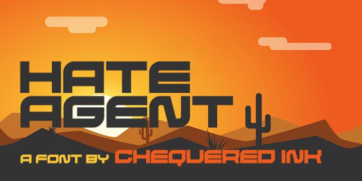 Hate Agent Font poster design